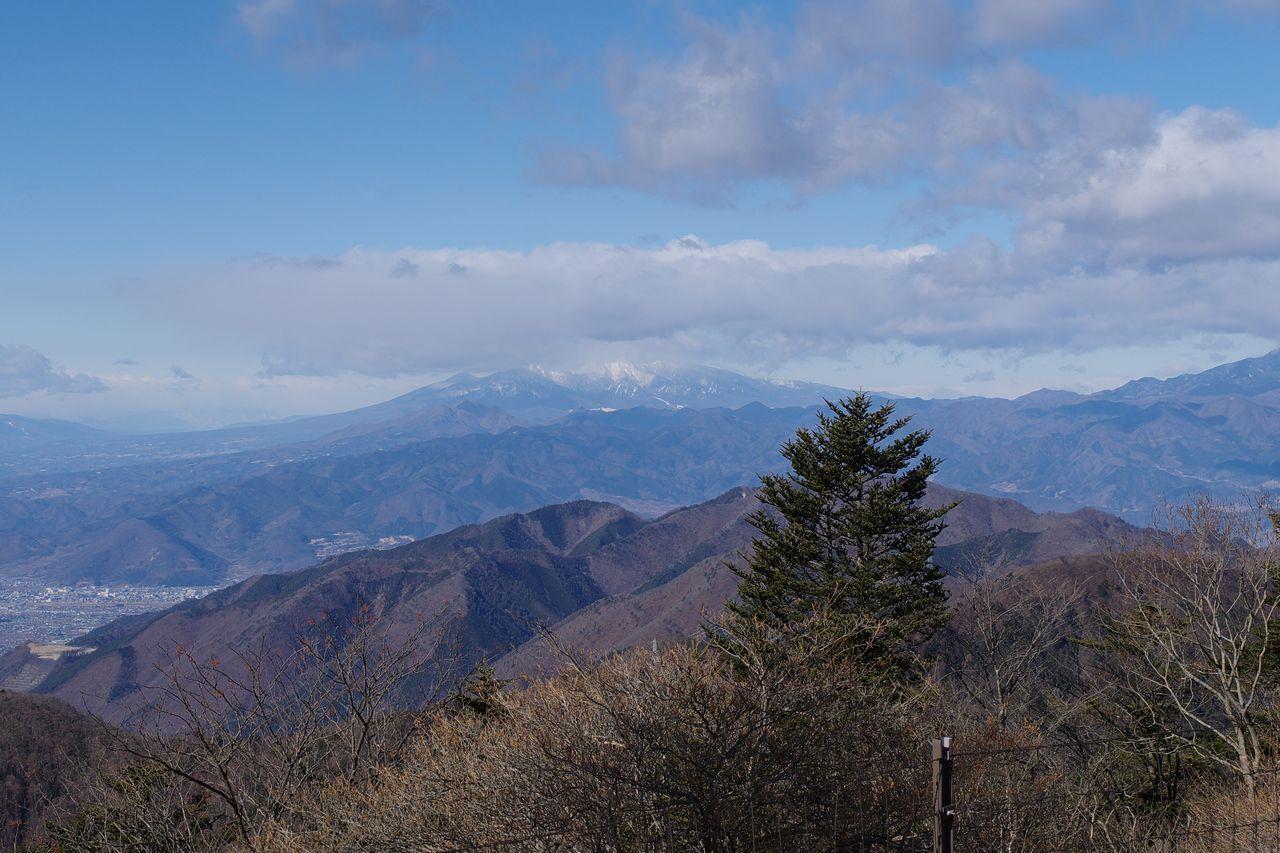 三ッ峠山から見た八ヶ岳