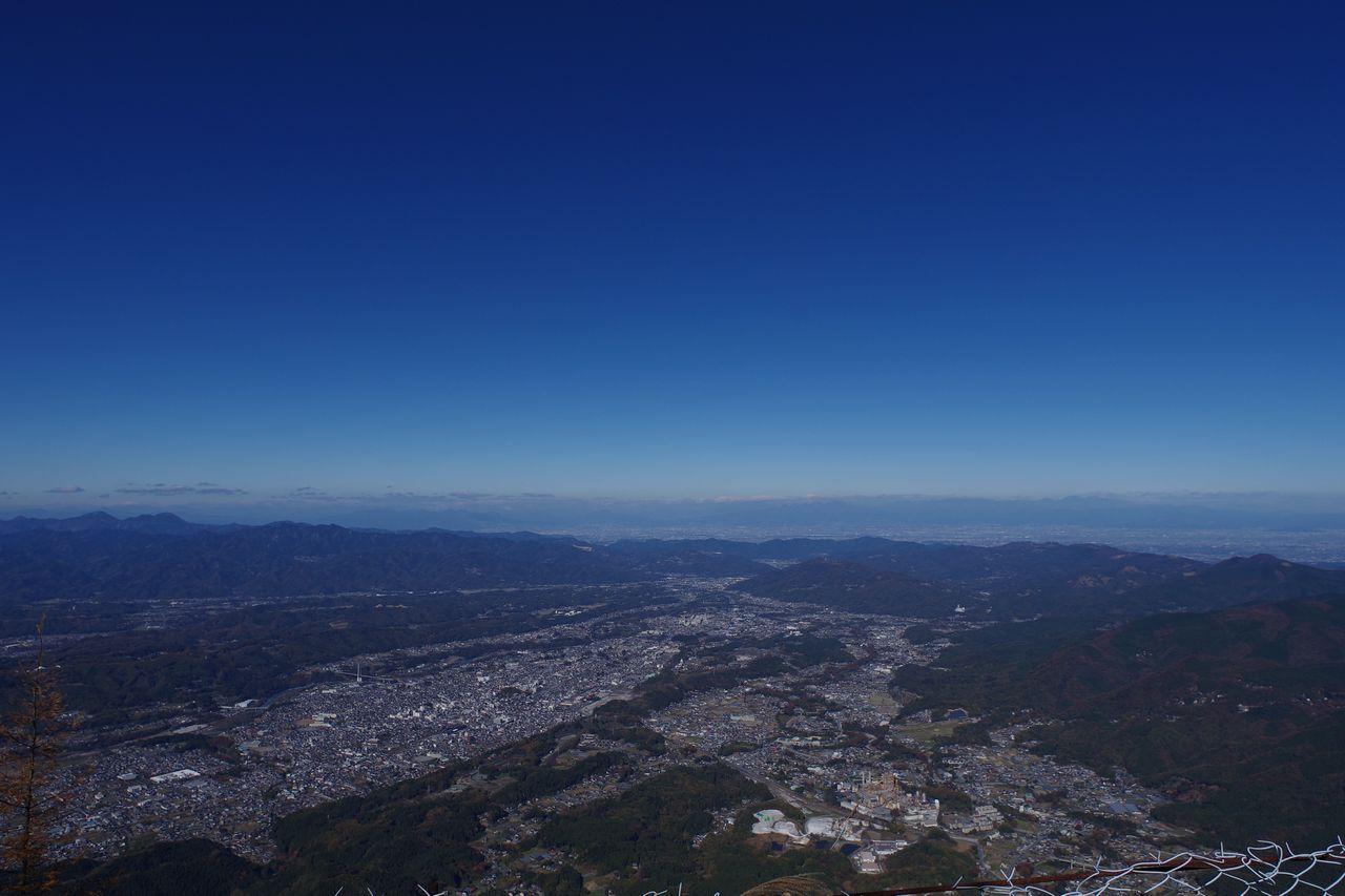 武甲山から見た秩父市内