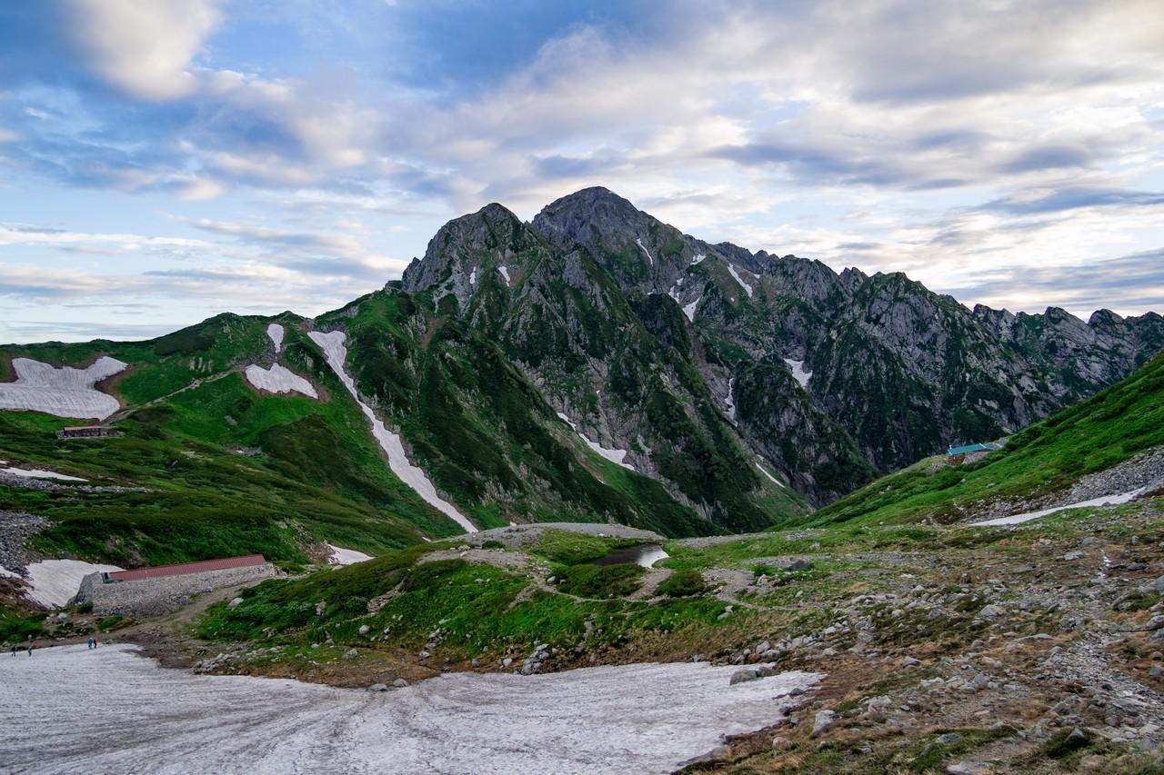 剣沢から見た剱岳