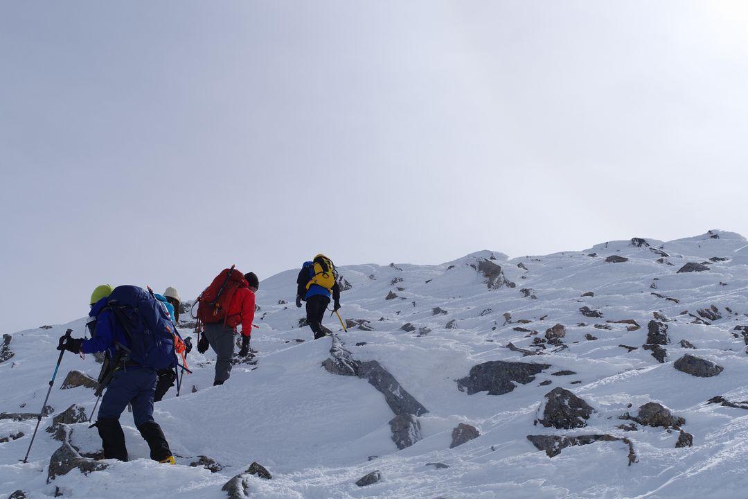 乗鞍岳 朝日岳への直登
