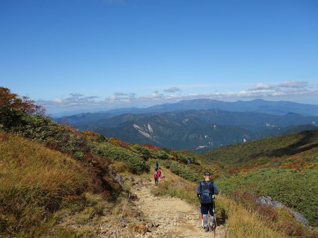 栗駒山 須川温泉コースの登山道