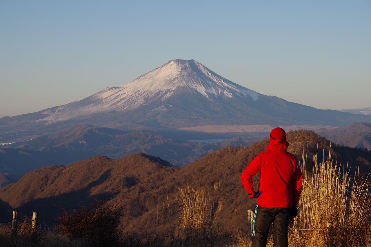 蛭ヶ岳山頂から見た富士山