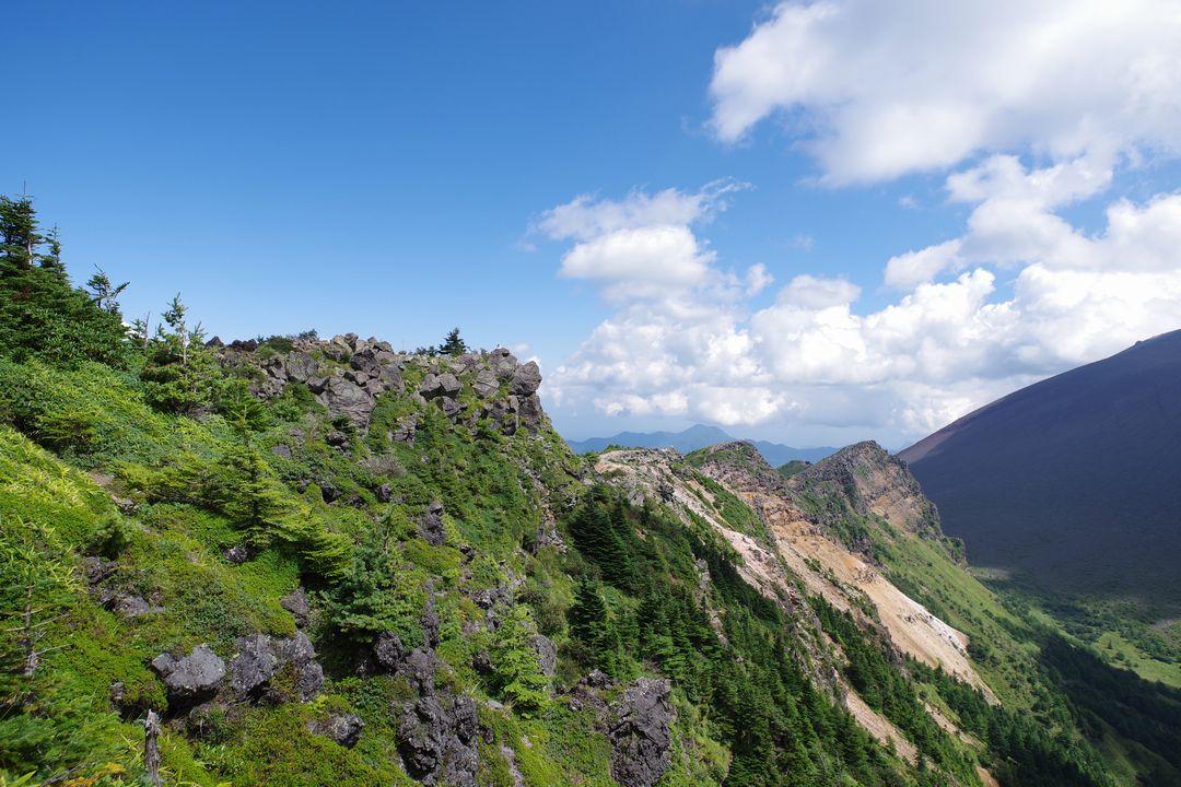浅間山外輪山の登山道