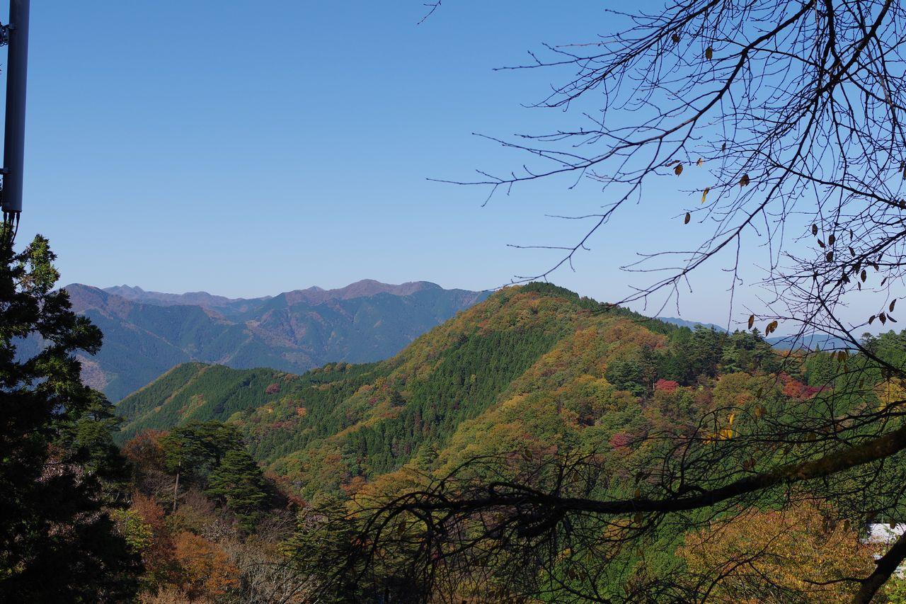 御岳山から見た天目背稜