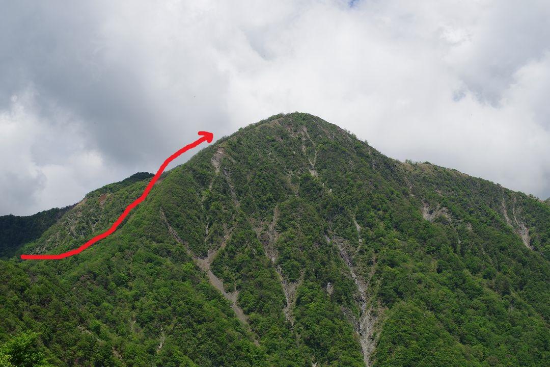 丹沢主稜線縦走路から蛭ヶ岳への登り