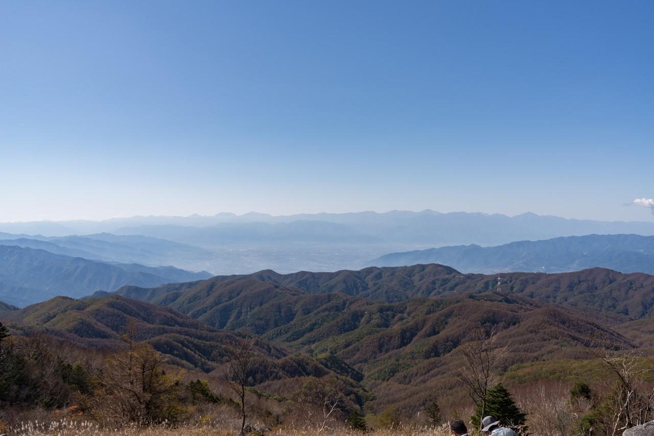 白谷ヶ丸から見た甲府盆地