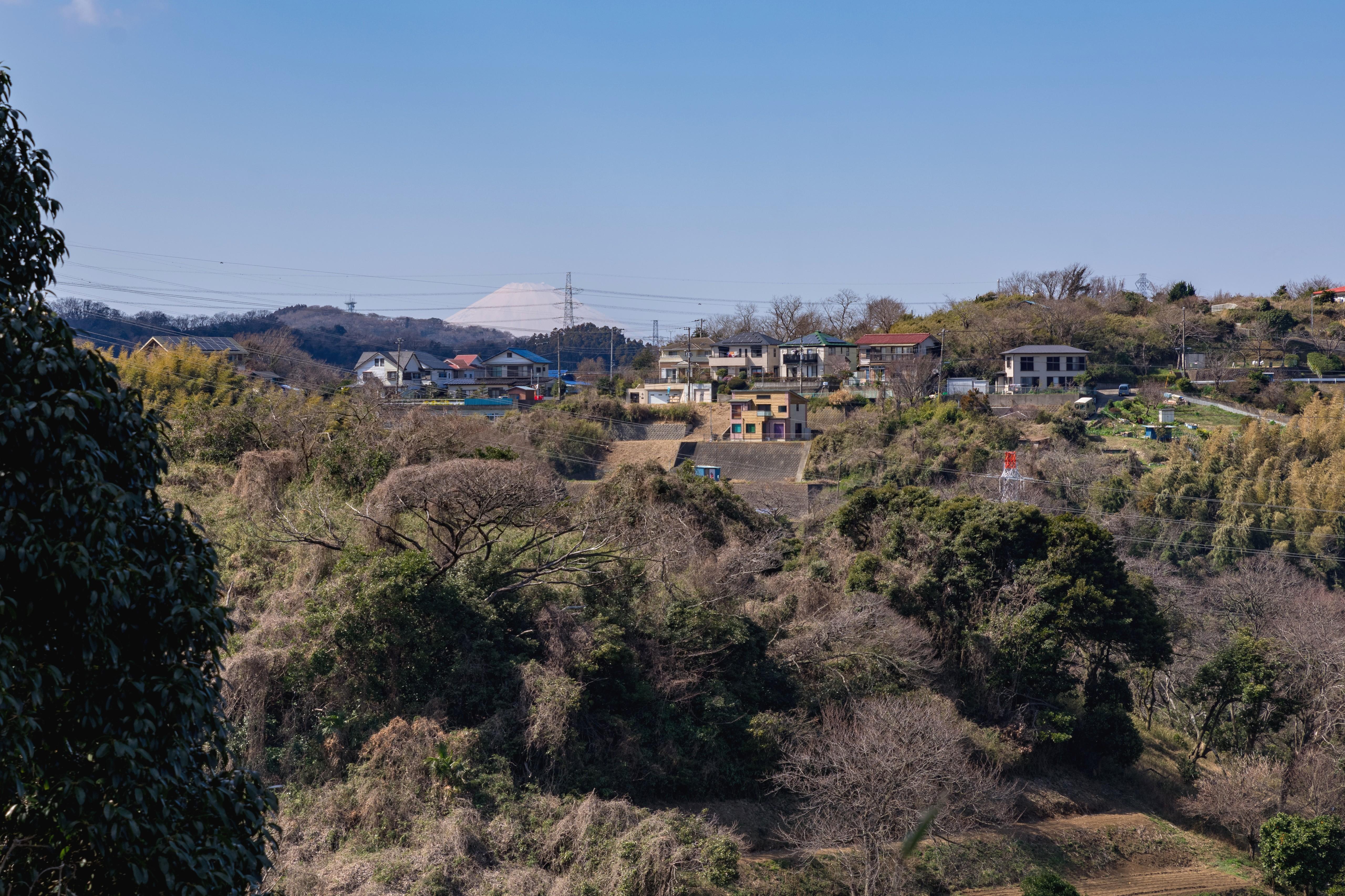 塚山公園から見た富士山
