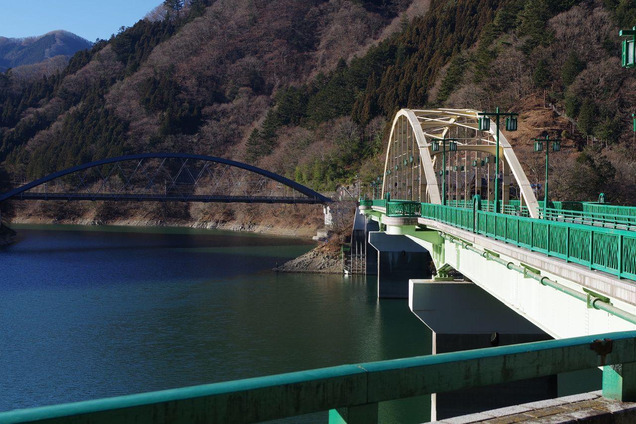 深山橋と三頭大橋