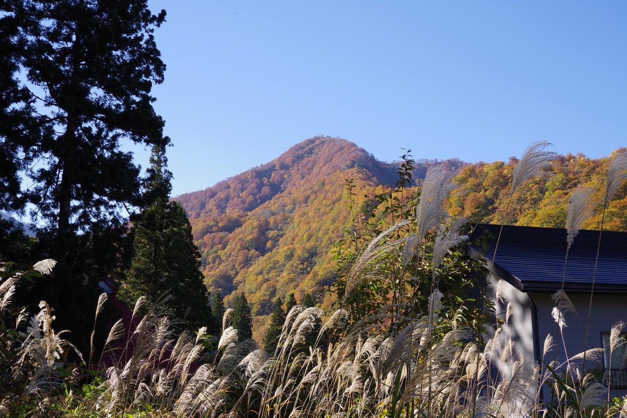 清水集落の紅葉