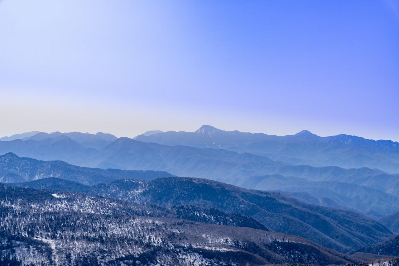 至仏山から見た栃木県方面の展望