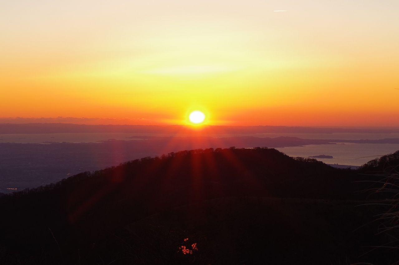 蛭ヶ岳山頂からのご来光