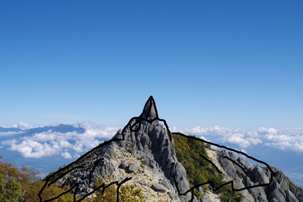 鳳凰山 地蔵岳
