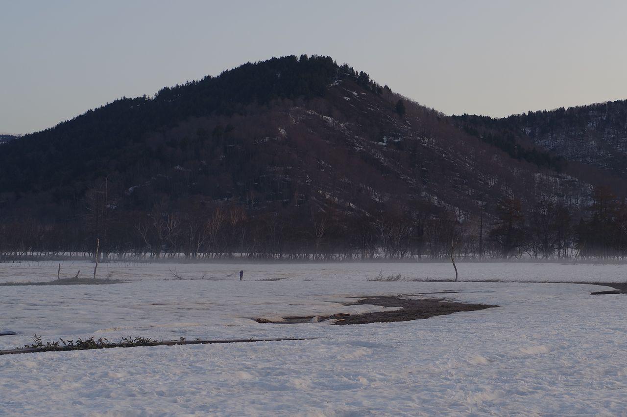 尾瀬ヶ原の朝霧