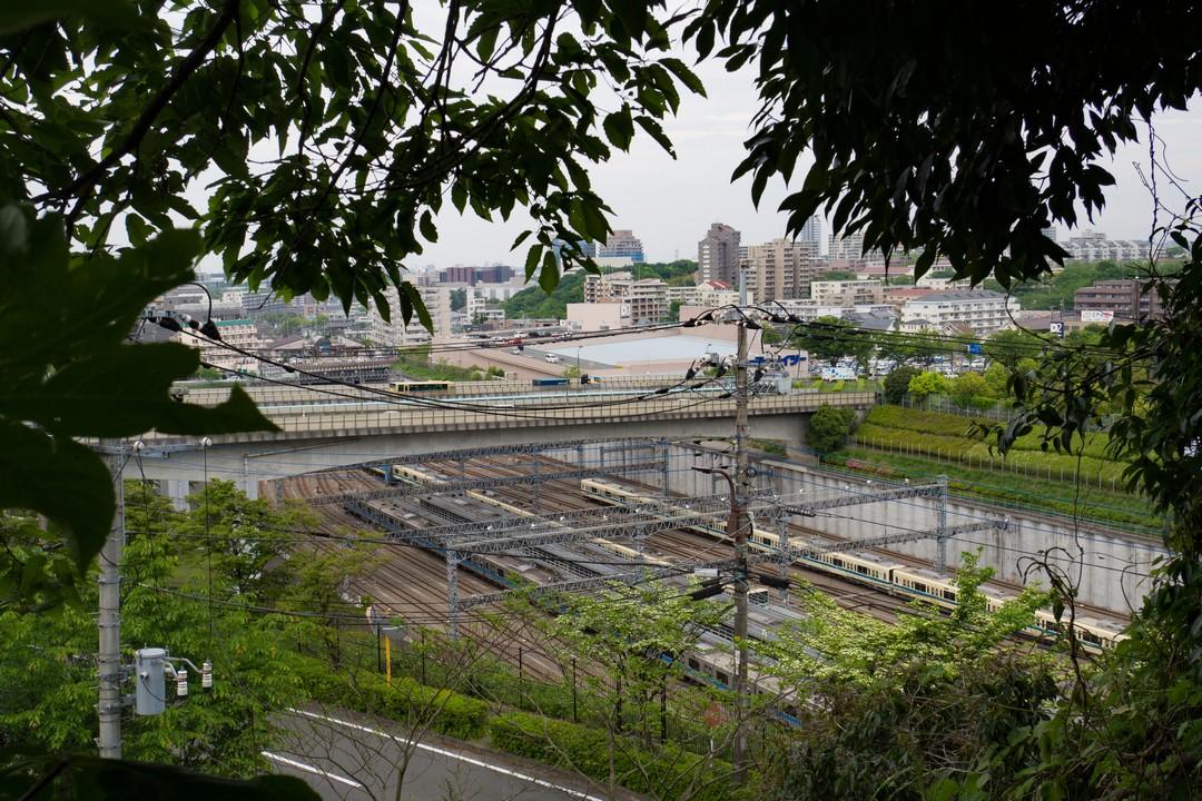 唐木田駅の操車場