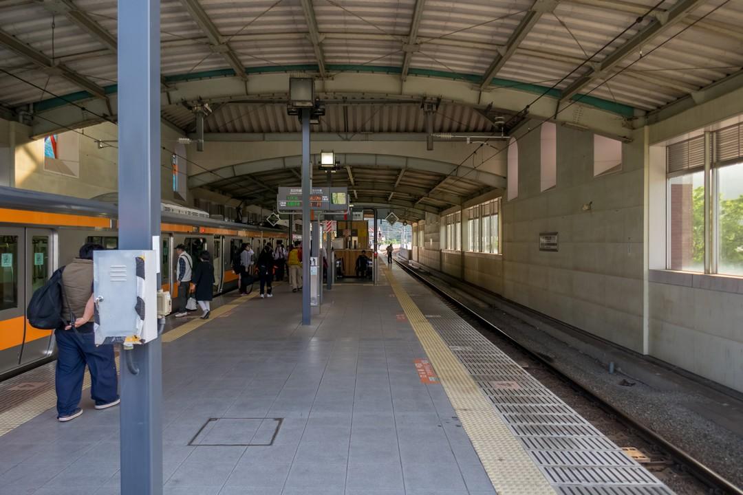 武蔵五日市駅のホーム