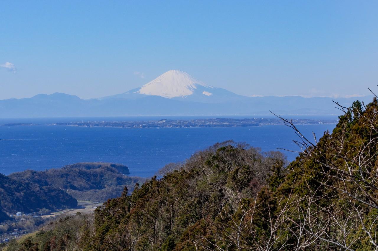 富山から見た箱根