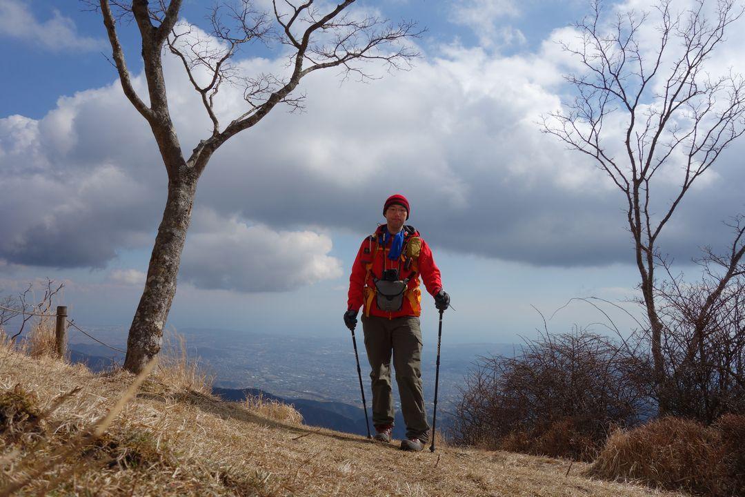 鍋割山山頂での記念撮影