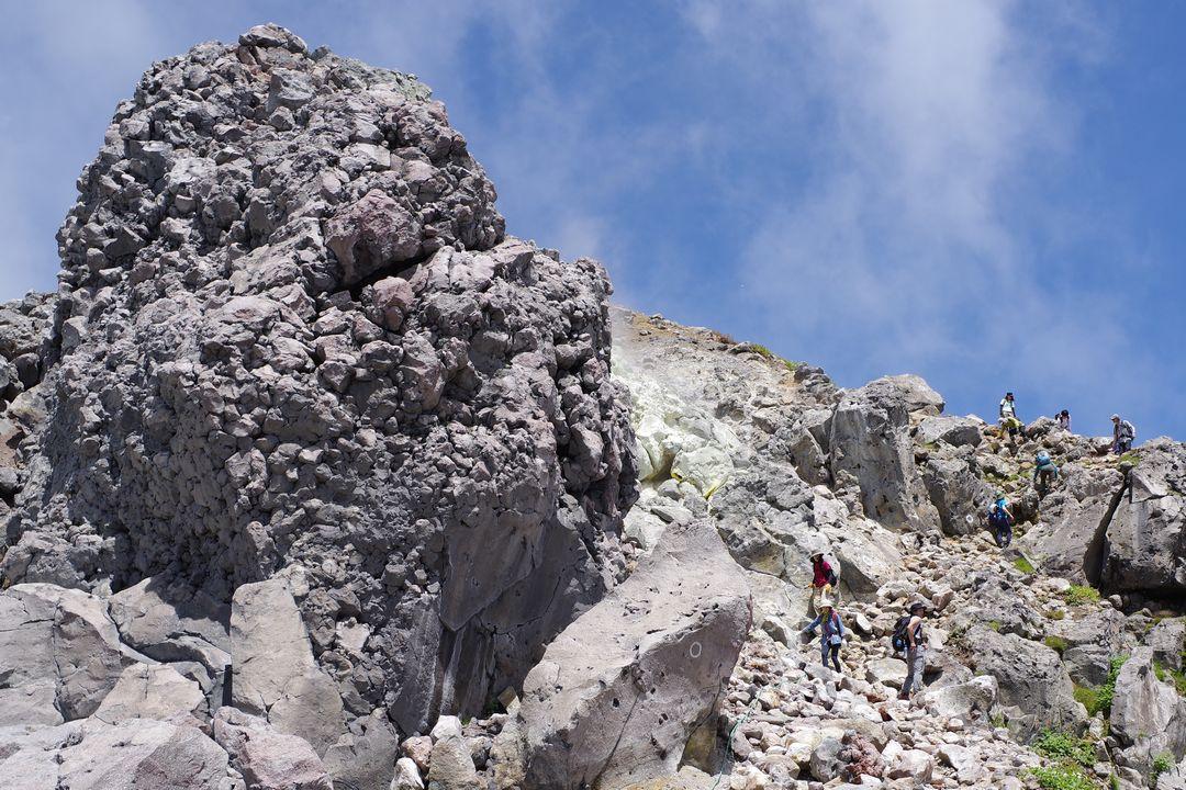 焼岳山頂の溶岩ドーム