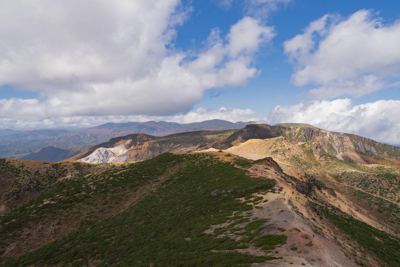 安達太良山から見た吾妻連峰