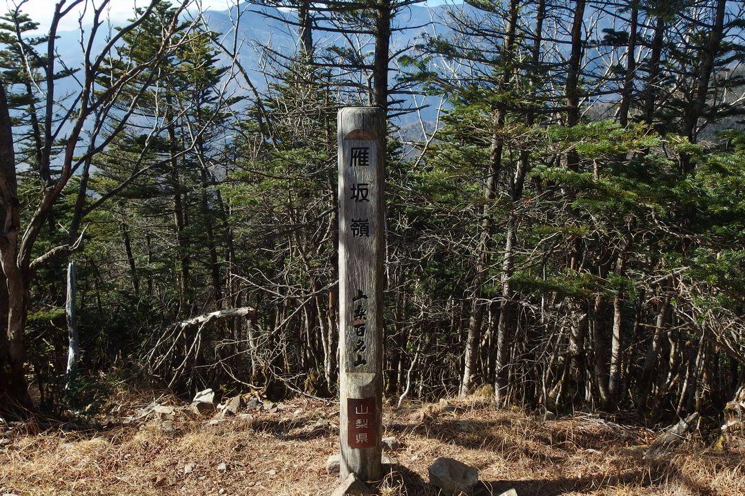 雁坂嶺の山頂