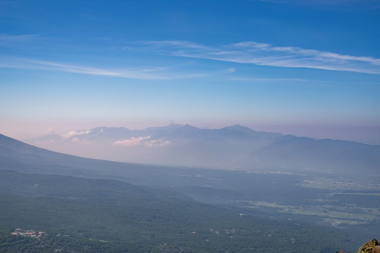 蓼科山から見た中央アルプス