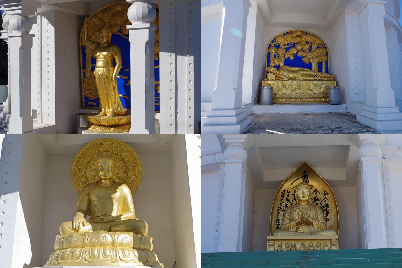 大寺山山頂の仏像4体