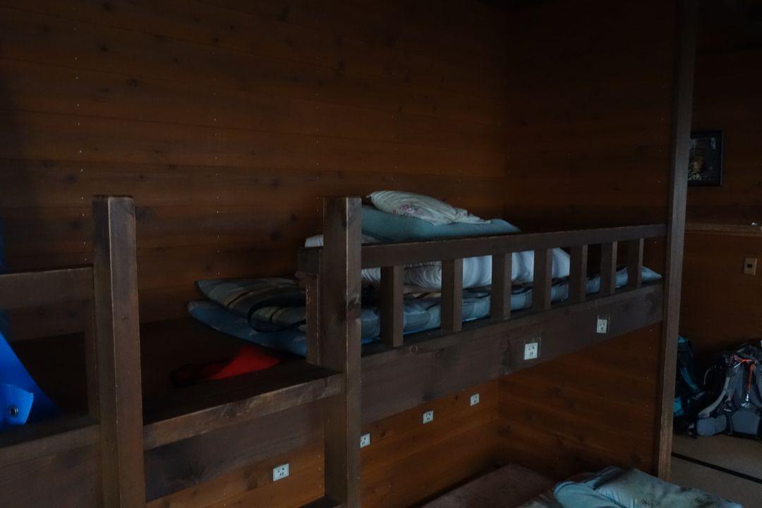蛭ヶ岳の寝室