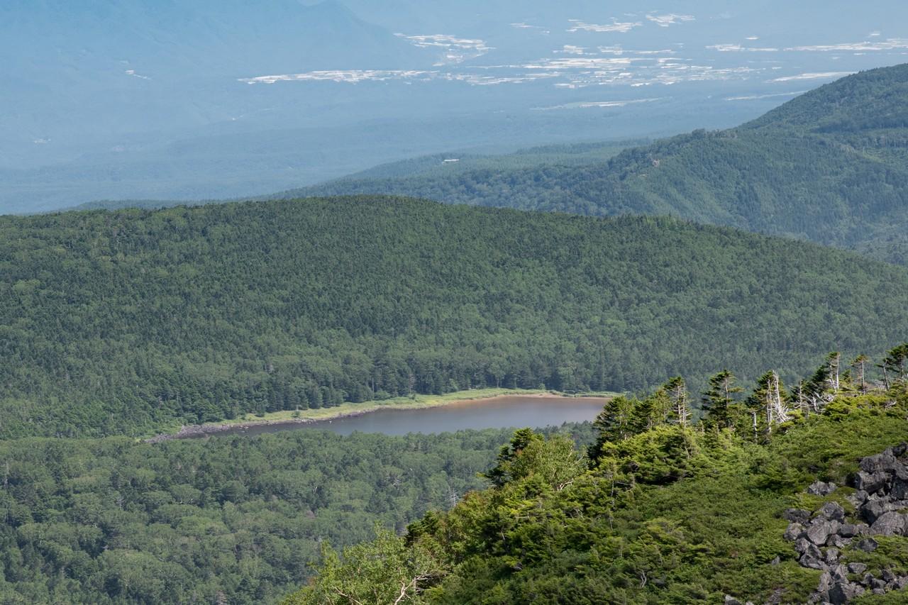 大岳から見た雨池
