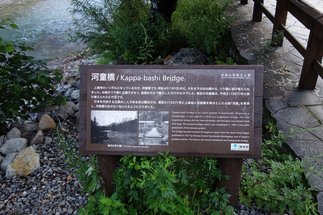 河童橋の標識