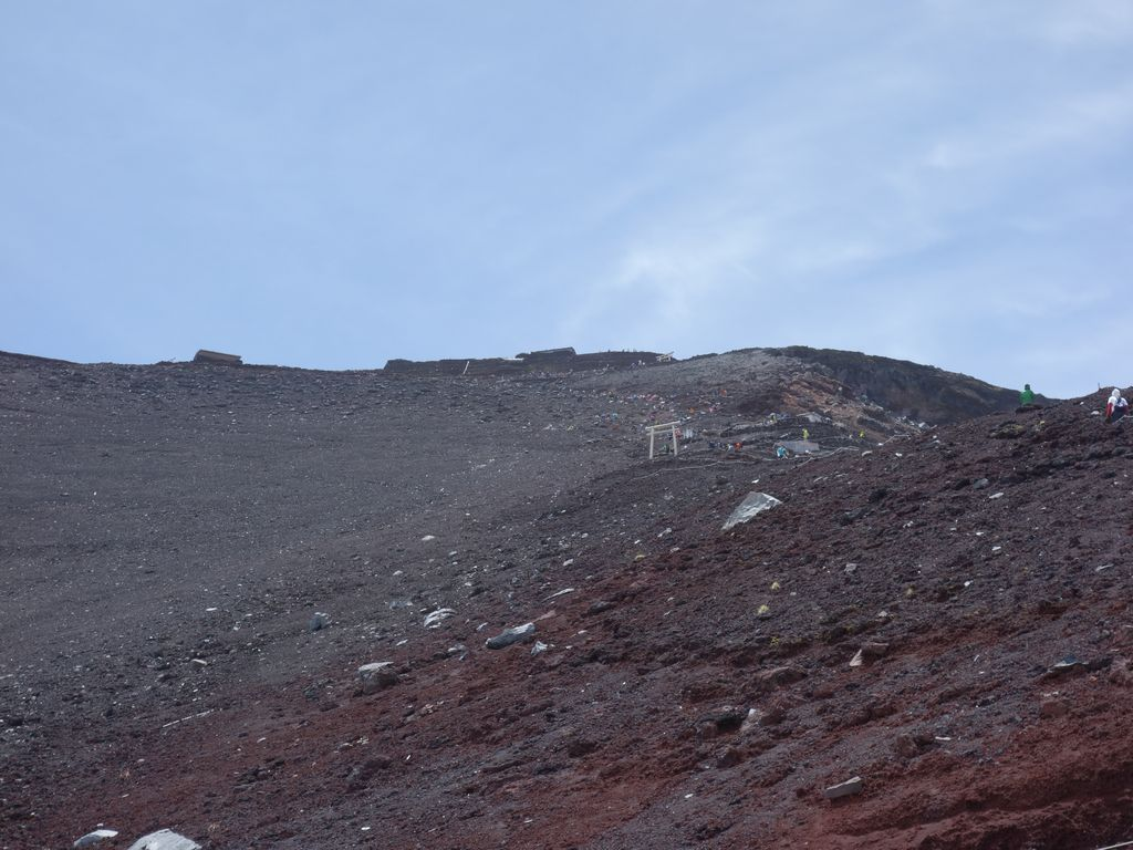 富士山 吉田ルート9合目付近の登山道