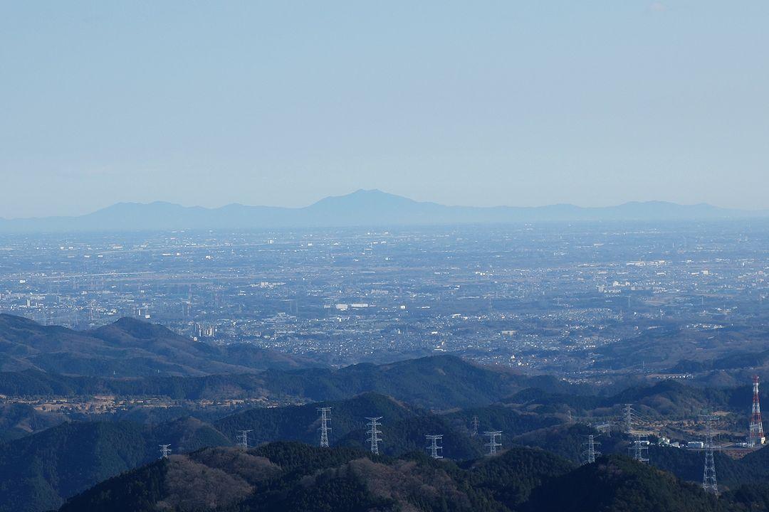 棒の折山から見た筑波山