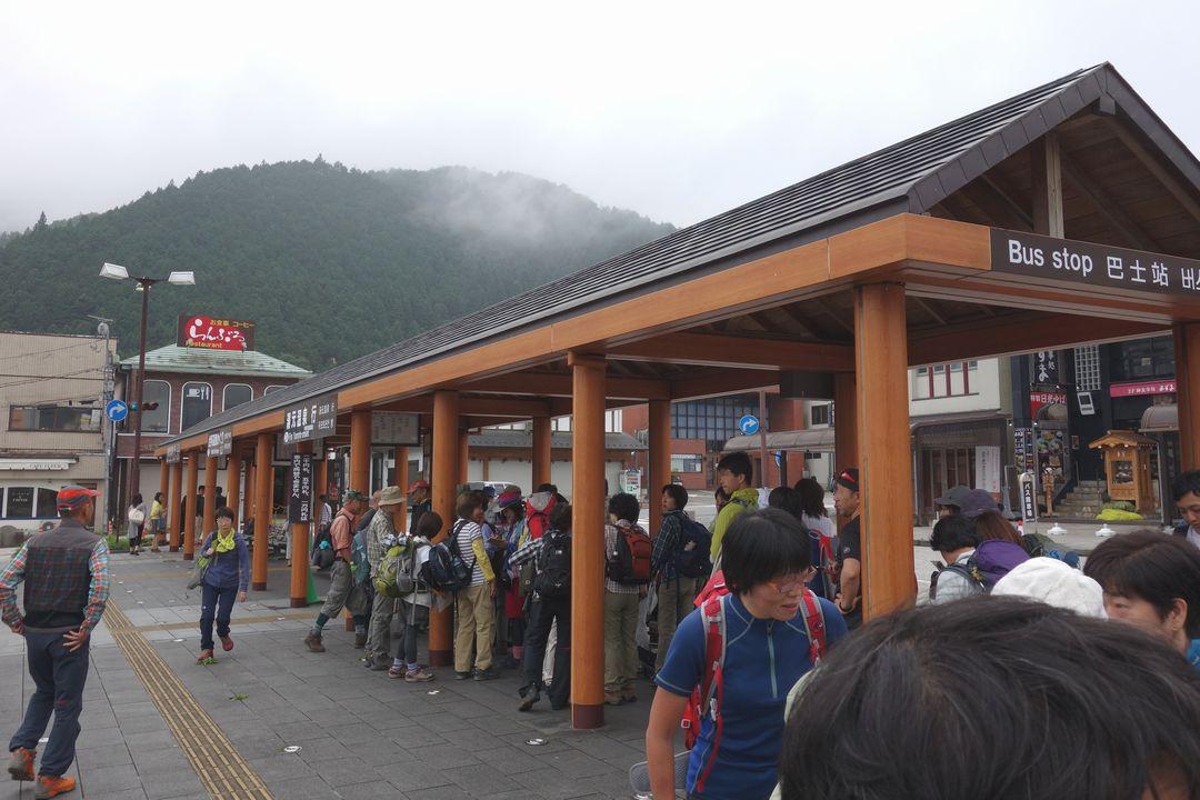 東武日光駅のバスターミナル