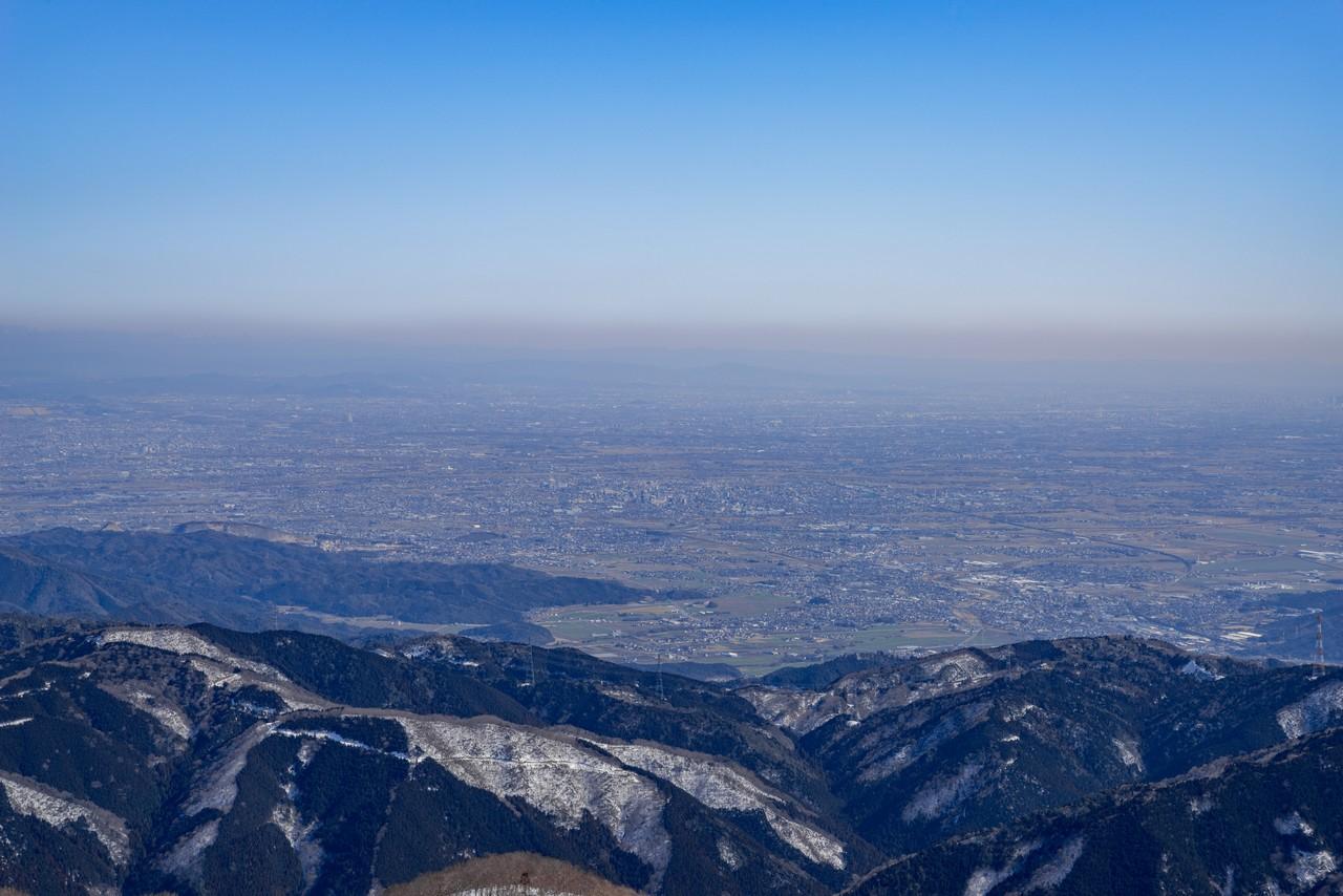 伊吹山から見た濃尾平野