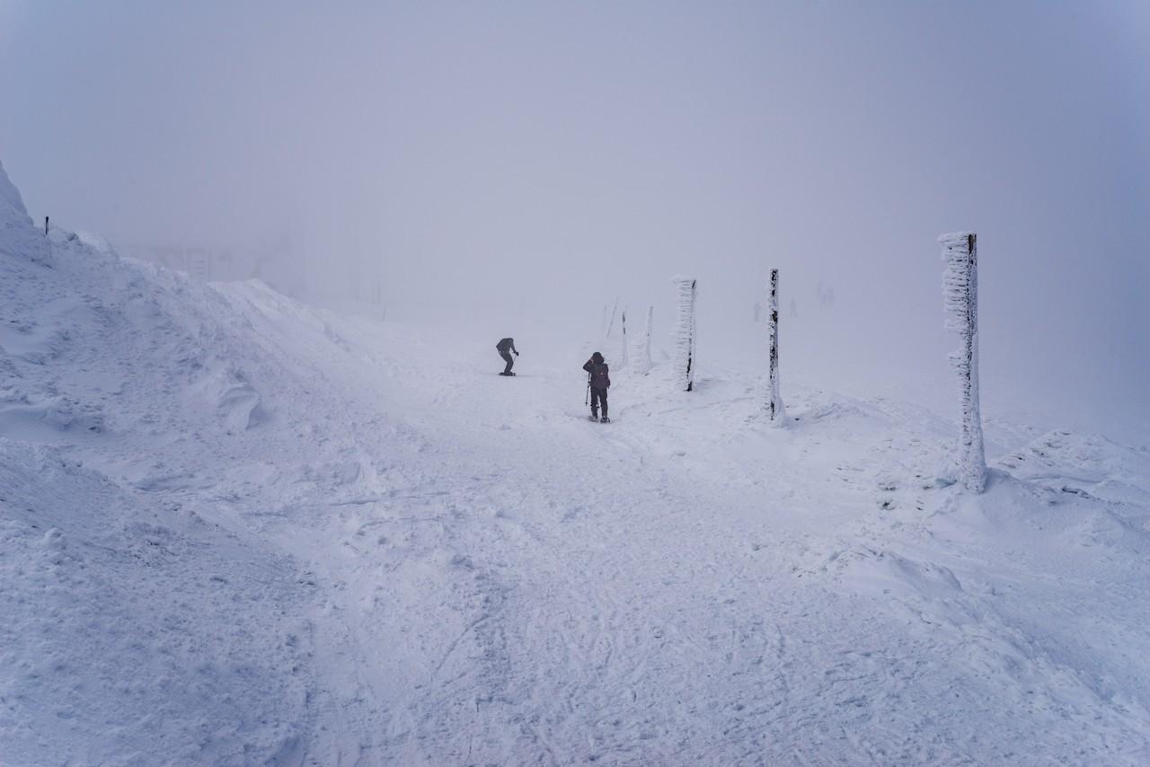 蔵王刈田岳の稜線