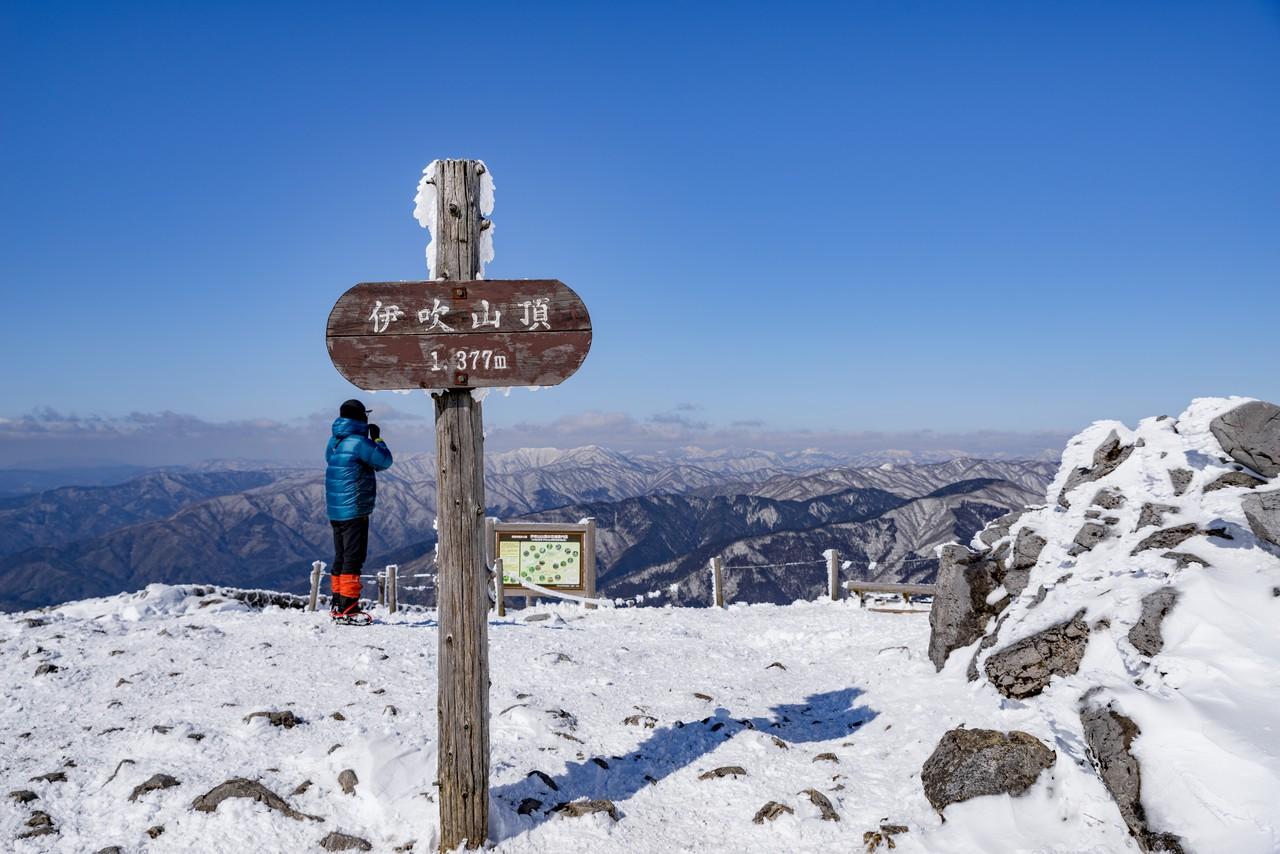 伊吹山の山頂標識