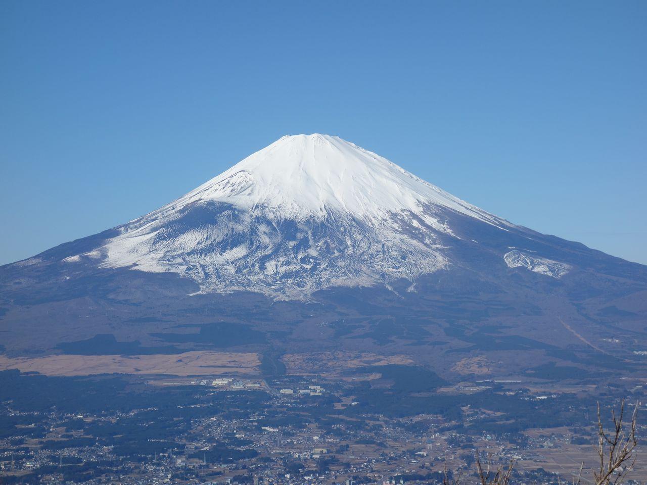 金時山から見た富士山