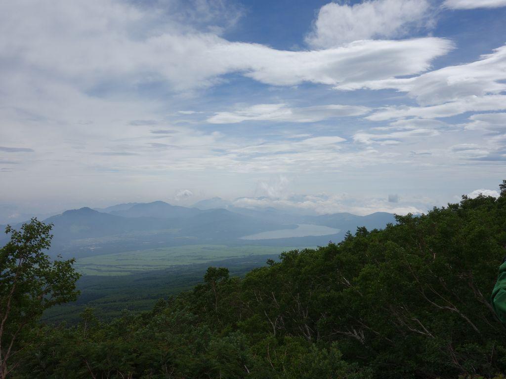 富士山 吉田ルート五合目から見た山中湖