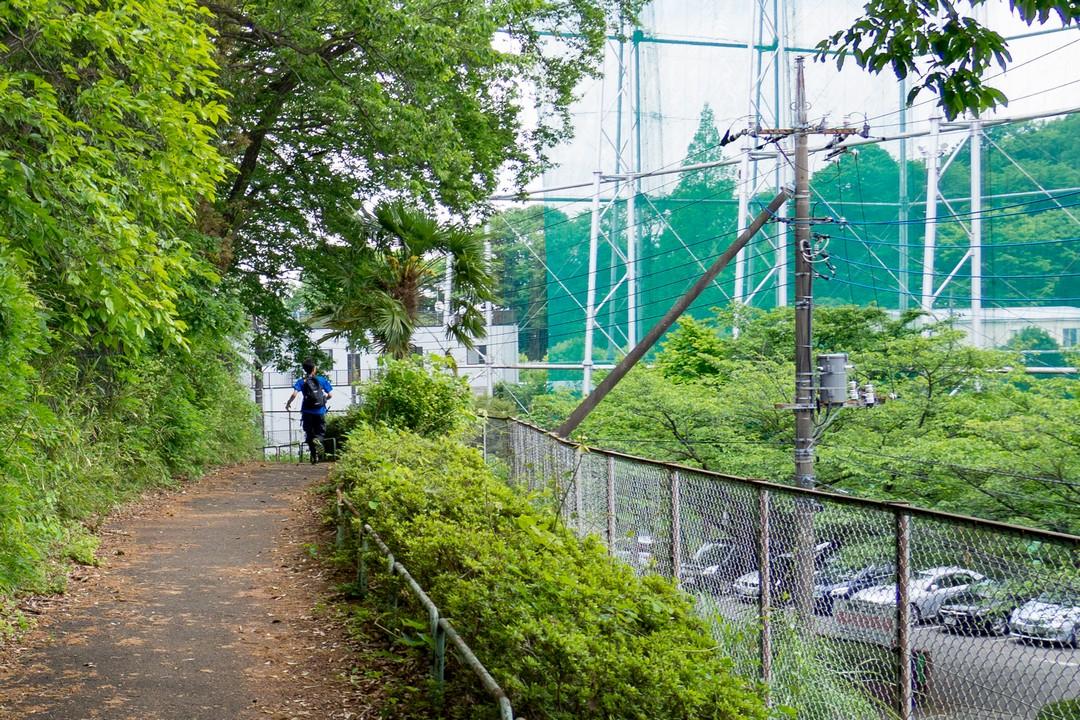 多摩よこやま道を走るランナー