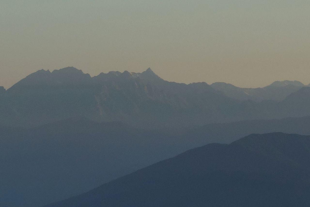 木曽駒ケ岳から見た槍ヶ岳