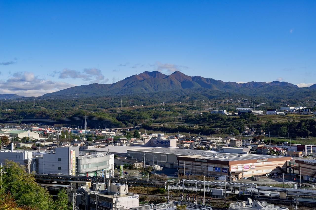 平和観音付近から見た茅ヶ岳