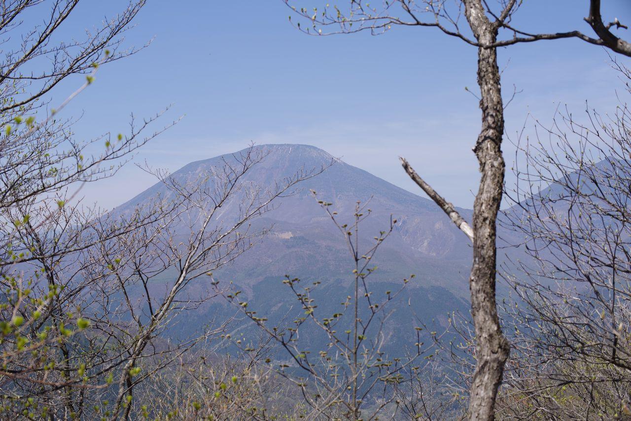 鳴虫山から見た男体山