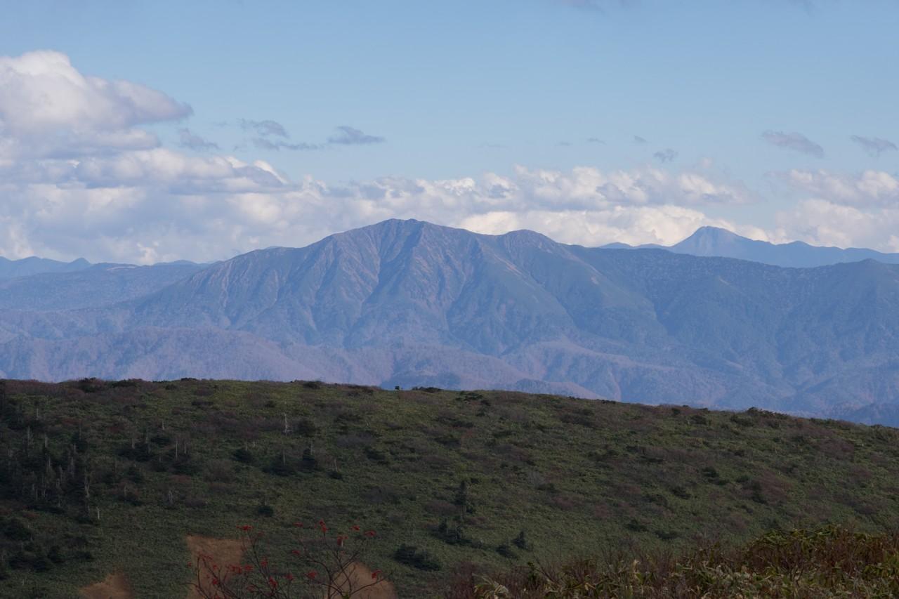 巻機山から見た至仏山