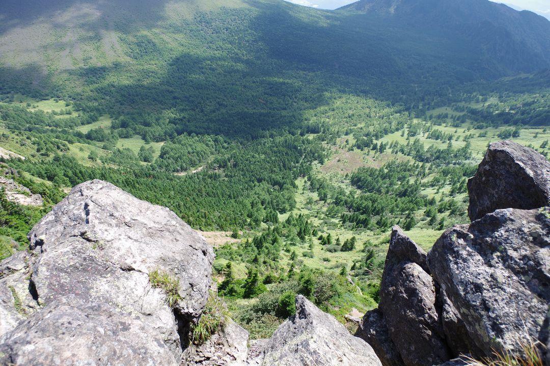 浅間山外輪山の急斜面