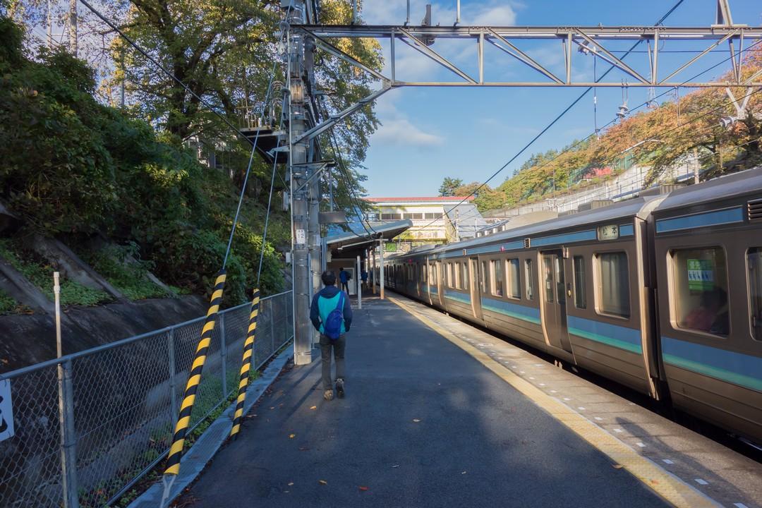 甲斐大和駅のホーム
