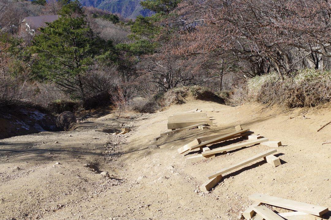 三ッ峠山 開運山直下の急坂