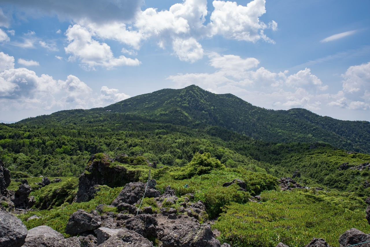 大岳から似た北横岳