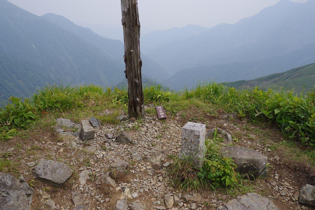 七ツ小屋山の山頂