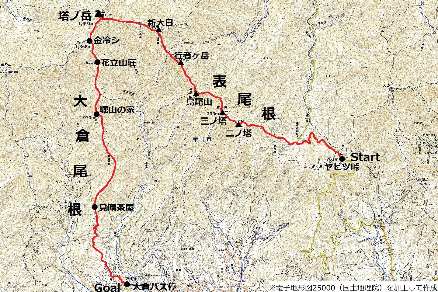 171001丹沢表尾根_map