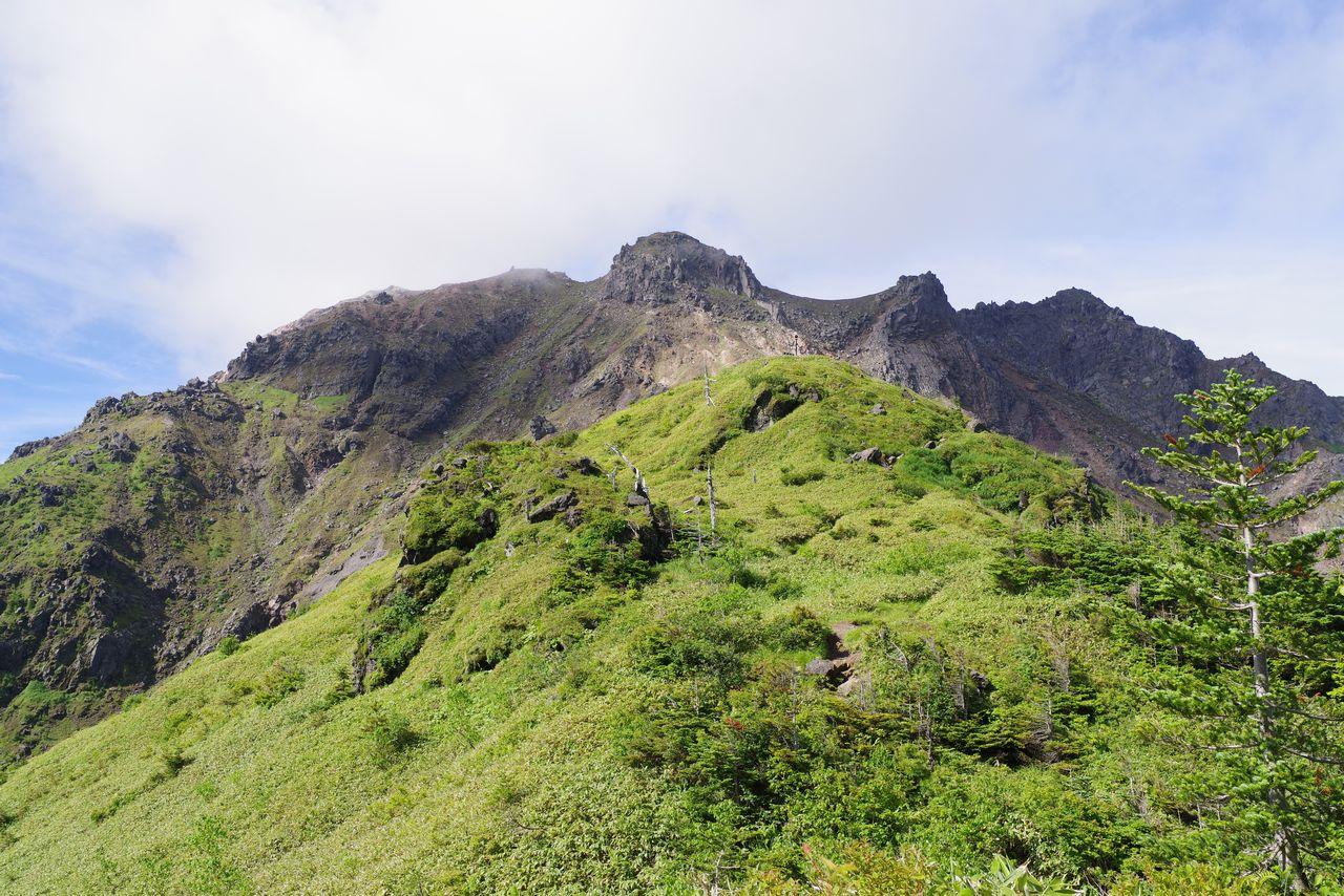 焼岳小屋の展望台
