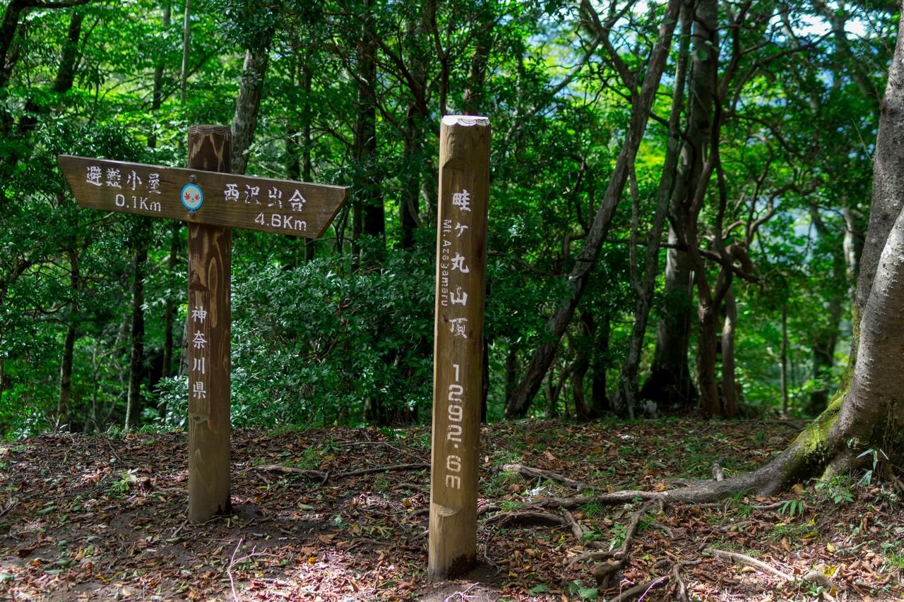 畦ヶ丸の山頂標識